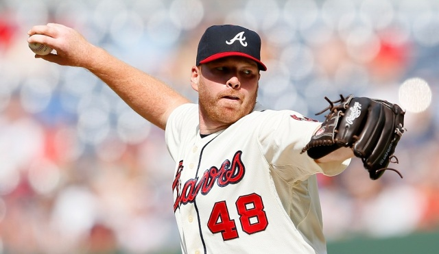 ATLANTA, GA - JULY 14:  Tommy Hanson #48 of the Atlanta Braves pitches to the New York Mets at Turner Field on July 14, 2012 in Atlanta, Georgia.  (Photo by Kevin C. Cox/Getty Images)