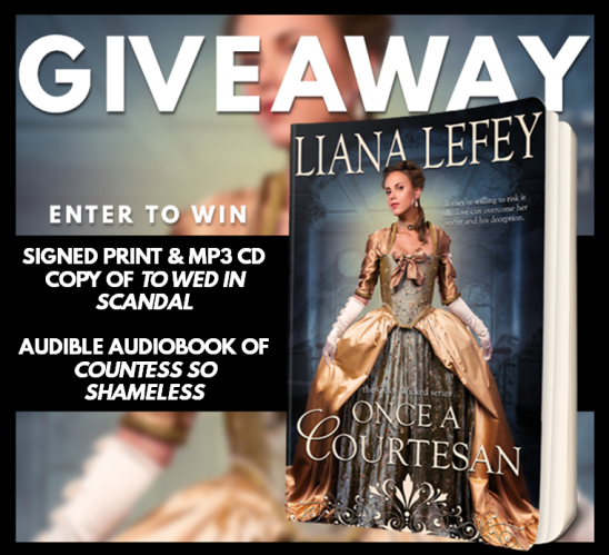 Once a Courtesan Giveaway Graphic