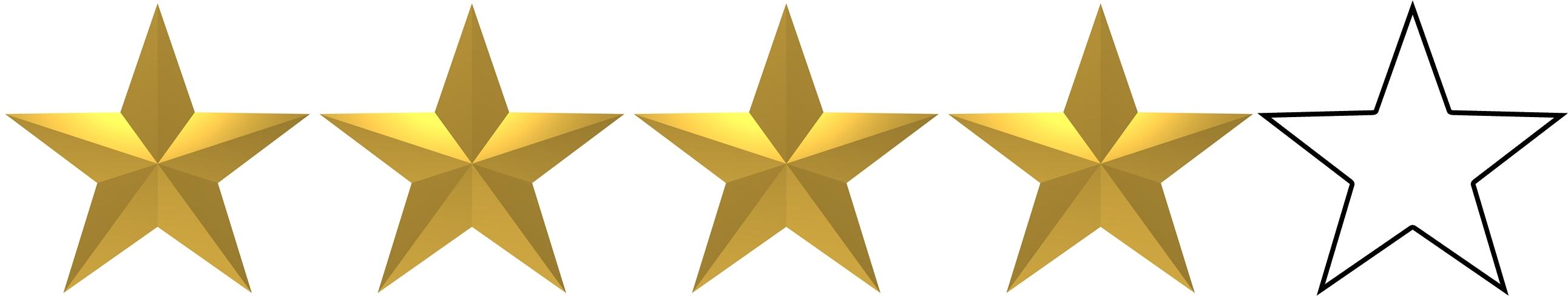 Risultati immagini per 4 stars out of 5