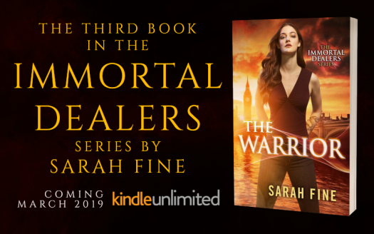 Promo Graphic - Cover Reveal - The Warrior by Sarah Fine - 1
