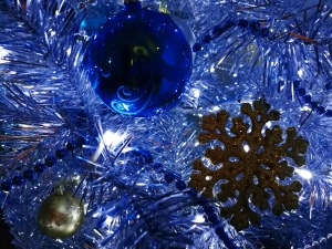 Ukrainian Christmas Eve 6th January 2018 Sonya Heaney Oksana Heaney Canberra Australia Silver Christmas Tree Silver Blue Gold Decorations