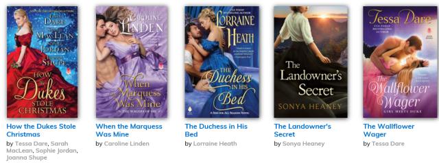 HarperCollins Historical Romance Tessa Dare Caroline Linden Joanna Shupe Sarah Maclean Lorraine Heath Sonya Heaney 2019