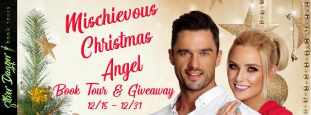 mischievous christmas angel banner