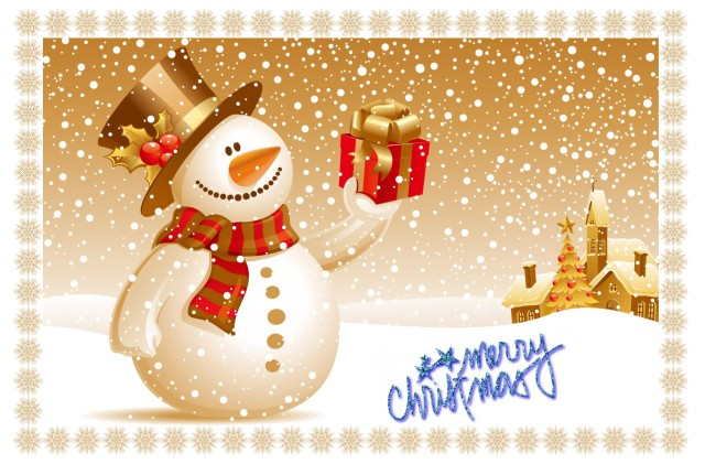 Snowman Merry Christmas Header