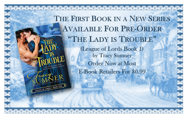 The Lady Is Trouble Banner